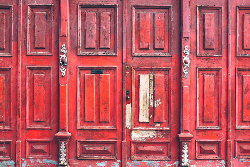 Red Doors by Good Vibrations Images for Stocksy United
