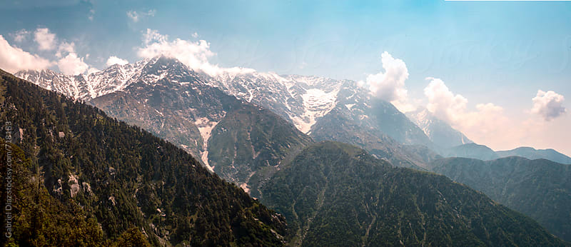 Beautiful high dynamic image of Himalayan mountains by Gabriel Diaz for Stocksy United