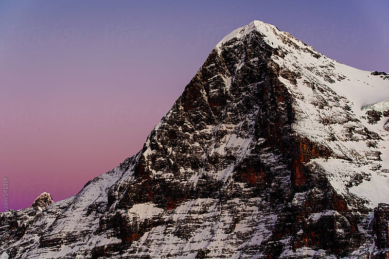 Eiger at sunset by Peter Wey for Stocksy United
