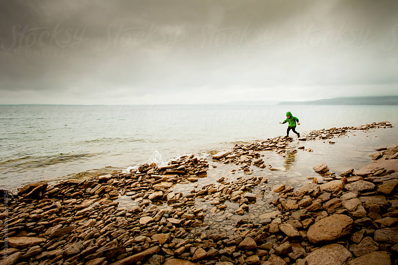 Little Boy Playing at Seashore by JP Danko for Stocksy United