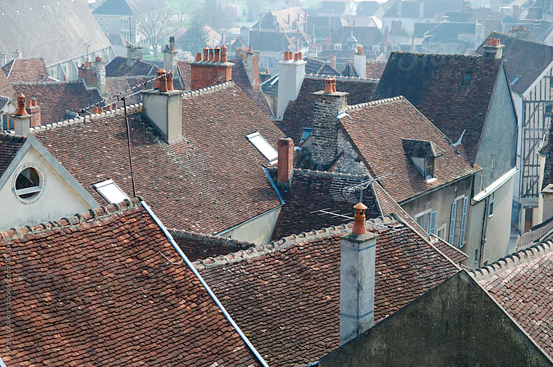Above the roofs of Tonnerre by Harald Walker for Stocksy United