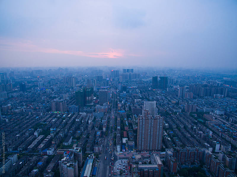 sunset at Chengdu city by Bo Bo for Stocksy United