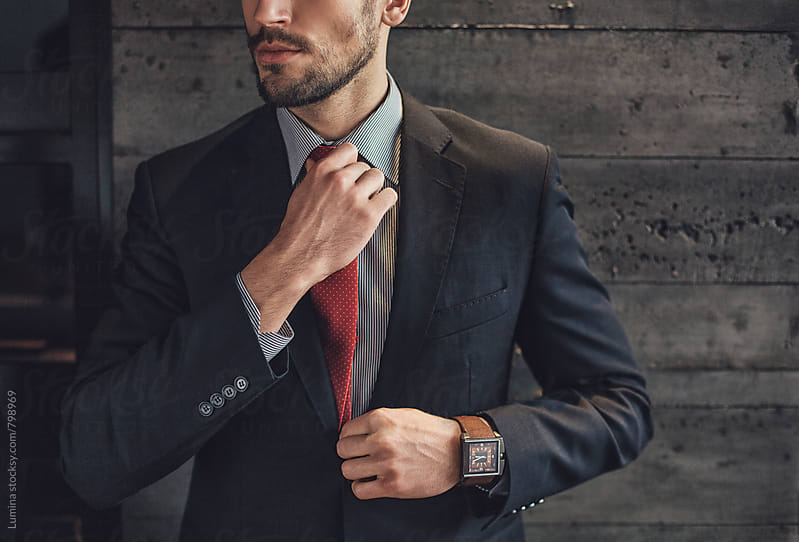Stylish Man With a Red Tie by Lumina for Stocksy United