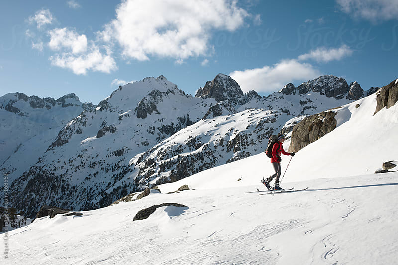 Backcountry skier by Miquel Llonch for Stocksy United