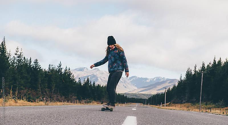 Mountain Skating by dom stuart for Stocksy United