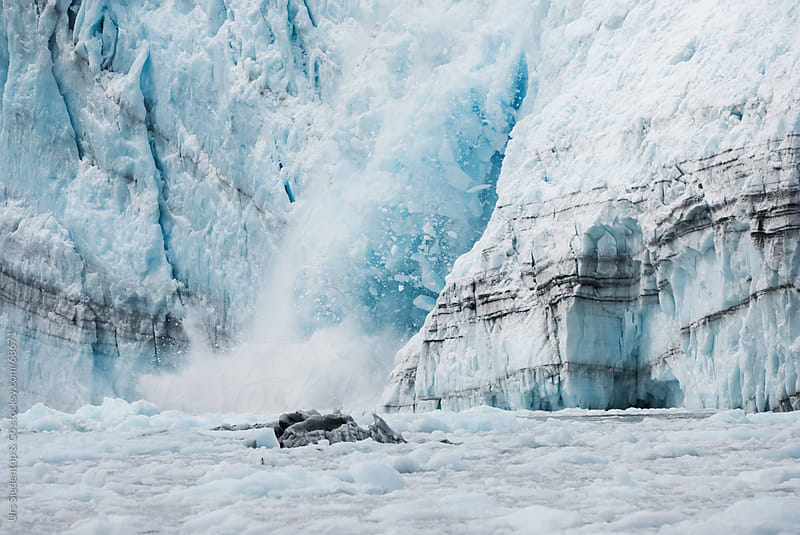 Calving glacier in Alaska by Urs Siedentop & Co for Stocksy United