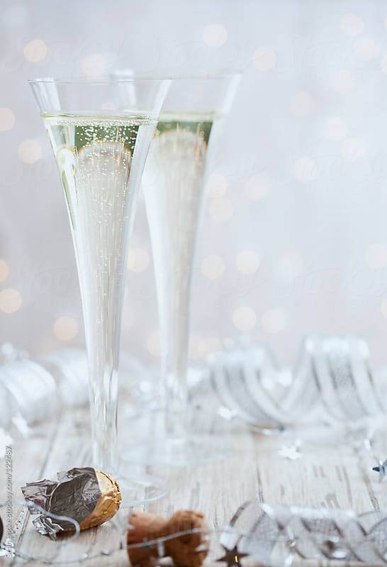 Holidays: Focus on Champage in Glass For New Year's Eve by Sean Locke for Stocksy United