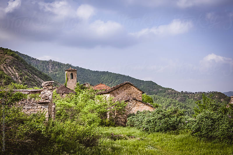 Ghost Rural Town Abandoned since the 1950s, Central Italy by Giorgio Magini for Stocksy United