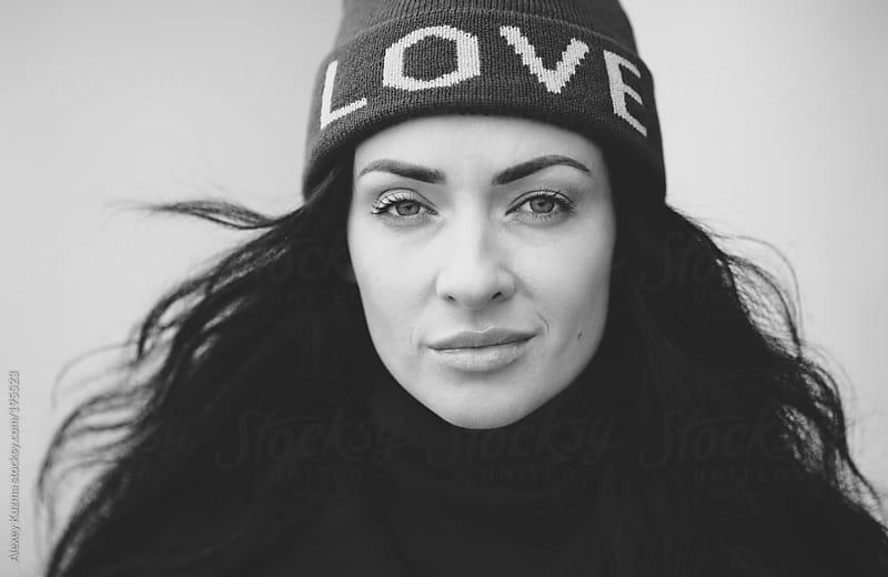 closeup of woman by Alexey Kuzma for Stocksy United