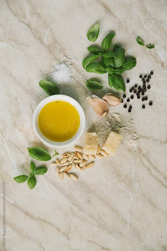 Pesto ingredients by Török-Bognár Renáta for Stocksy United