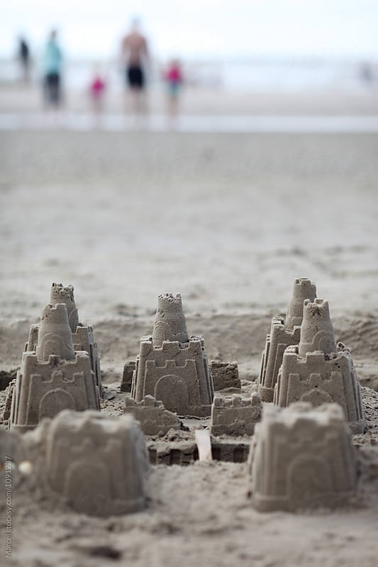 Sand castle on the beach by Marcel for Stocksy United
