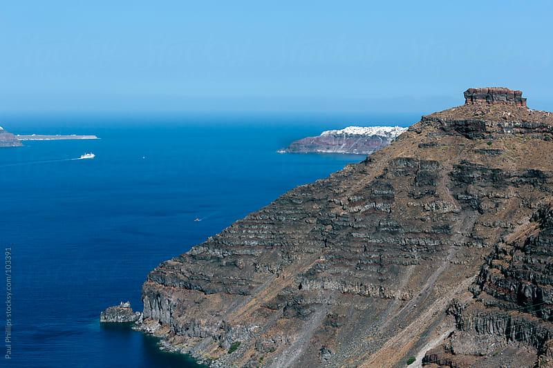 Skaros rock, santorini, Greece by Paul Phillips for Stocksy United