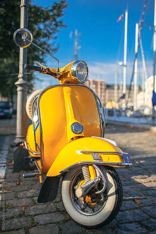 Yellow Vintage Scooter by Zocky for Stocksy United
