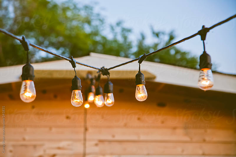 Patio lights by Carey Shaw for Stocksy United