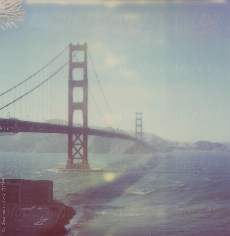 A frameless Polaroid of the Golden Gate Bridge, San Francisco by Kaat Zoetekouw for Stocksy United