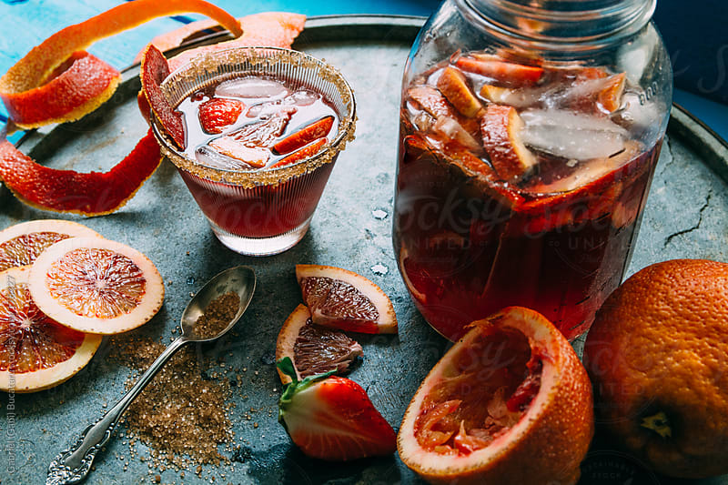 Blood Orange Sangria by Gabriel (Gabi) Bucataru for Stocksy United