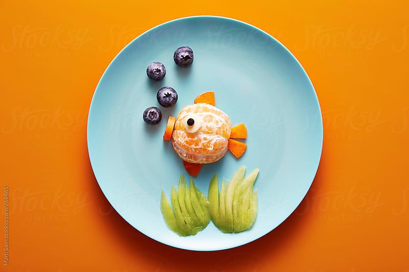Animal shaped food for kids  by Martí Sans for Stocksy United