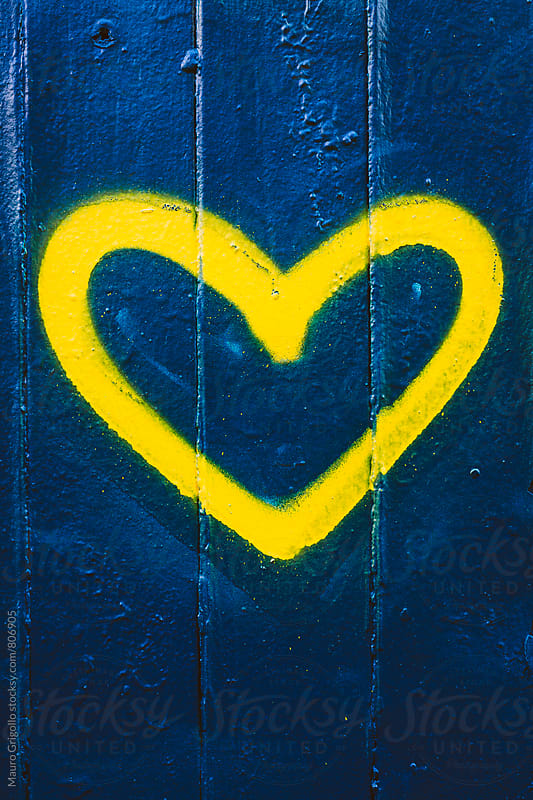 Heart painted on wall by Mauro Grigollo for Stocksy United