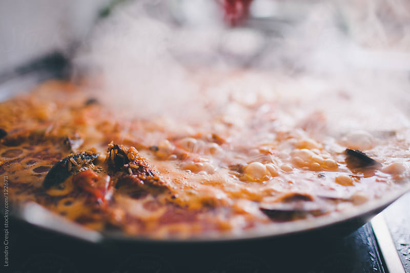 Homemade typical spanish paella by Leandro Crespi for Stocksy United