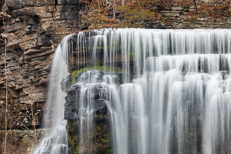 Burgess Falls waterfall on the Falling Water River in Tennessee by David Smart for Stocksy United