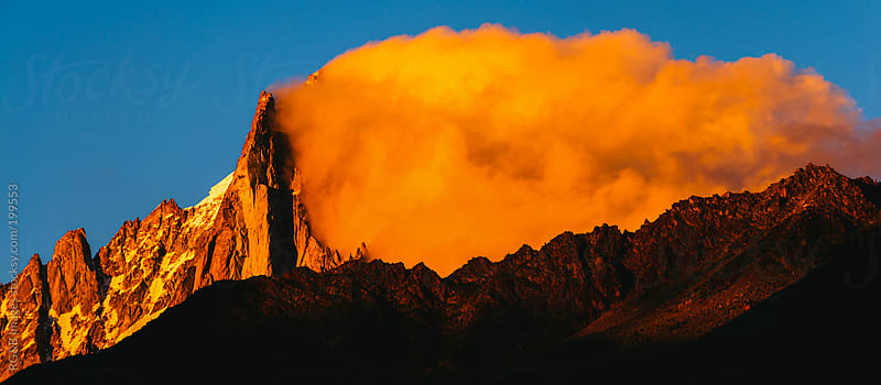 Mountain on fire  by RG&B Images for Stocksy United