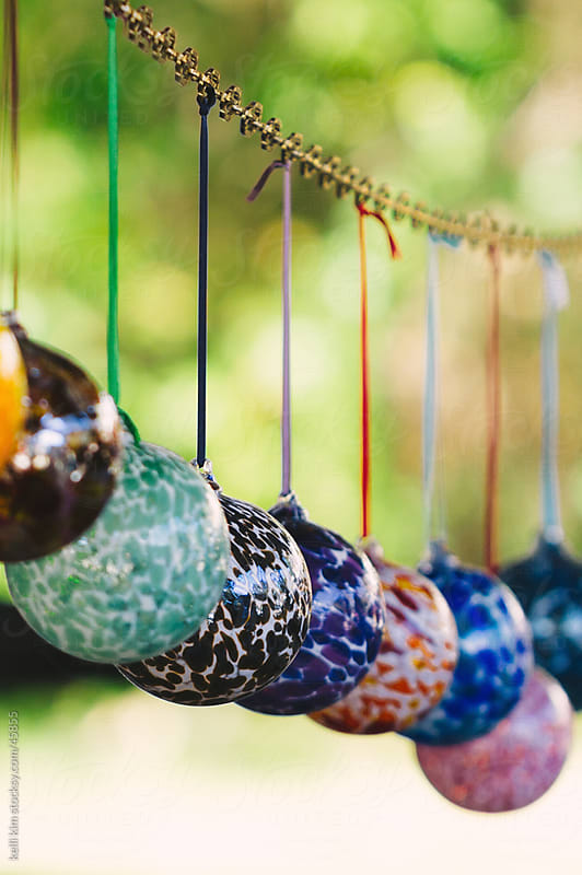 Colorful Hand Blown Glass Ball Ornaments by Kelli Seeger Kim for Stocksy United