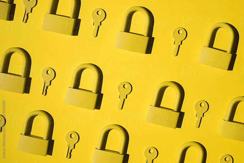 Keys and locks. yellow/yellow by Marko Milanovic for Stocksy United