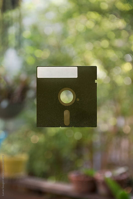 Floating Floppy Disk by Lucas Saugen for Stocksy United