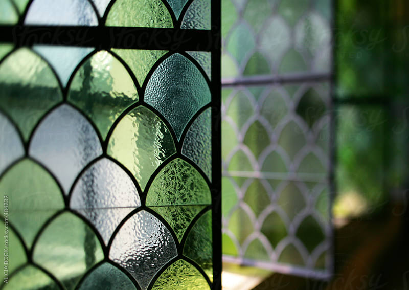 Green Stained Glass Windows by ALICIA BOCK for Stocksy United