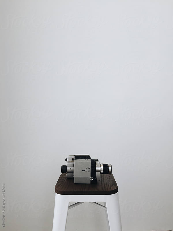Old School Film Cameras on White. by Max Kütz for Stocksy United