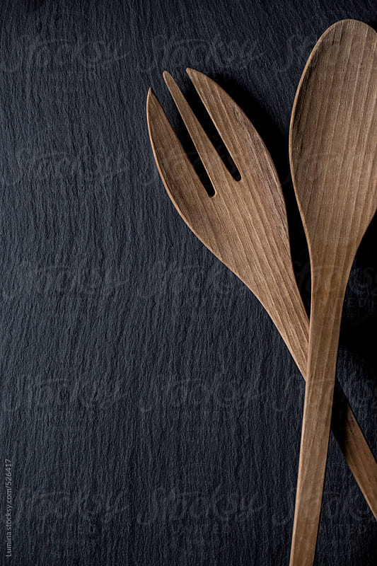 Wooden Spoon and Fork by Lumina for Stocksy United