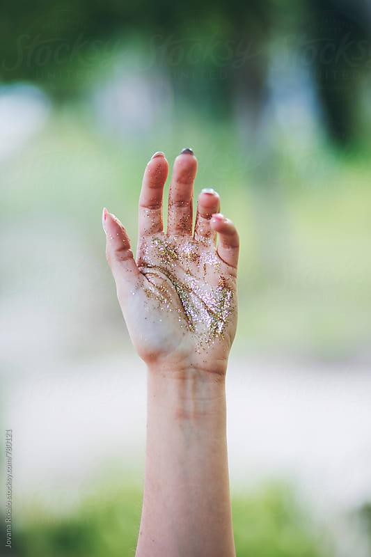 Glitter hand by Jovana Rikalo for Stocksy United