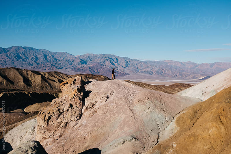amazing landscape of artists palette in death valley usa by Jesse Morrow for Stocksy United