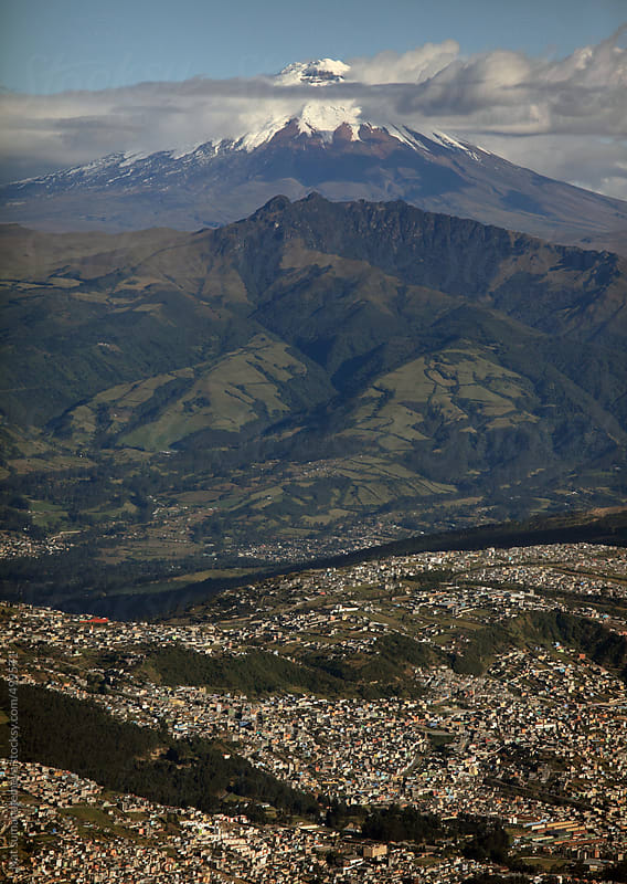 Quito and Cotopaxi volcano by Nat sumanatemeya for Stocksy United