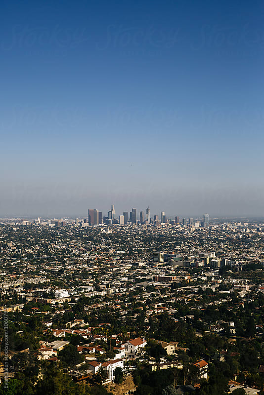 Los Angeles Skyline by Evan Dalen for Stocksy United