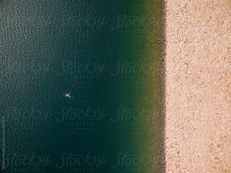 Aerial view of lake by Maa Hoo for Stocksy United