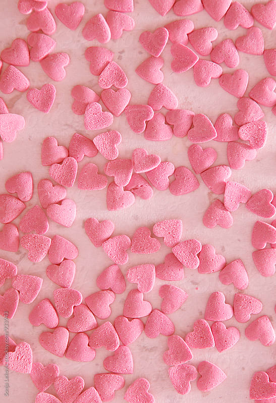 pink hearts background by Sonja Lekovic for Stocksy United