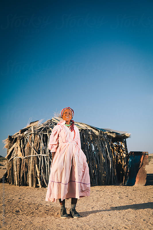 Portrait of an African Damara woman in Spitzkoppe, Namibia by Micky Wiswedel for Stocksy United