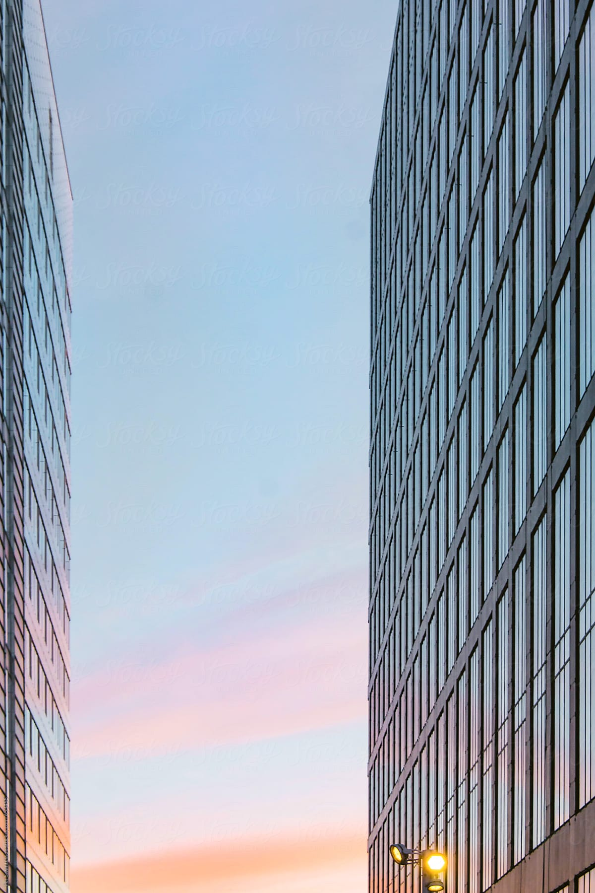Background of two modern office buildings by Per Swantesson - Stocksy United