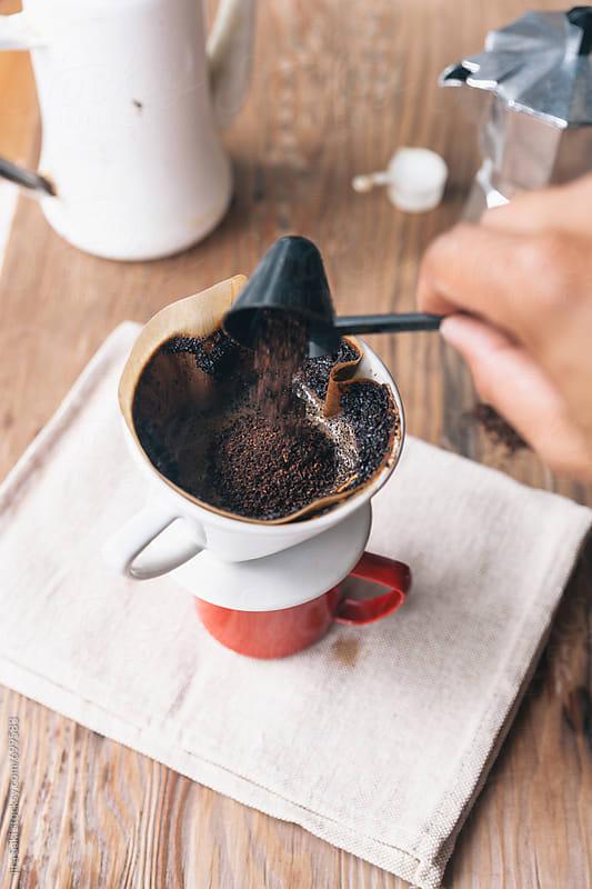 coffee drip by jira Saki for Stocksy United