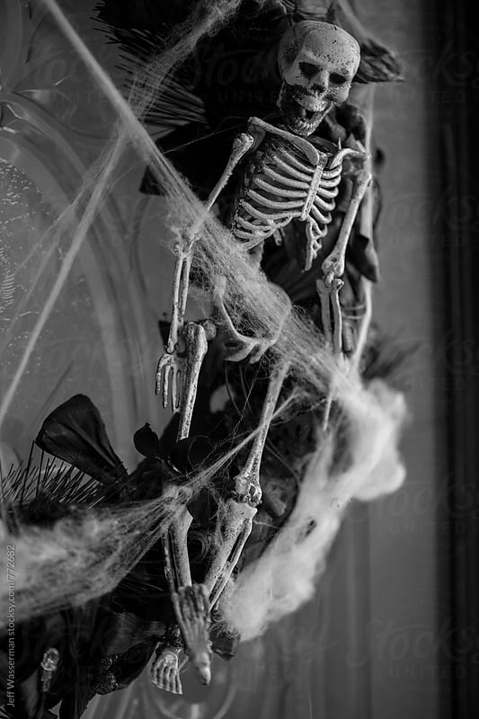 Skeleton Halloween Decoration by Jeff Wasserman for Stocksy United