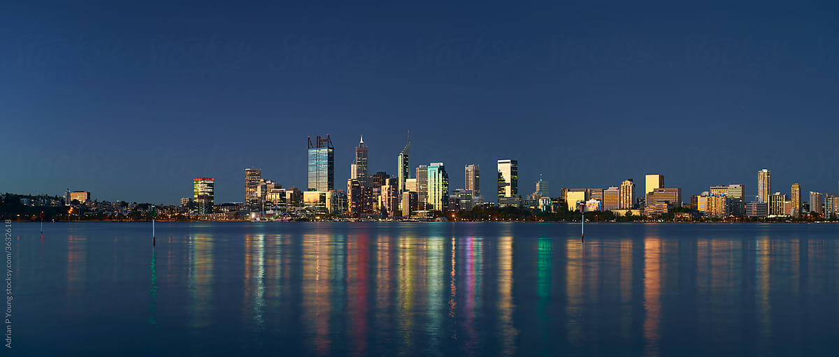Perth City Skyline at dusk