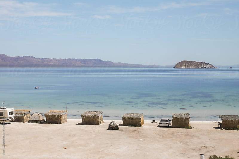 Baja California beach camping by Per Swantesson for Stocksy United