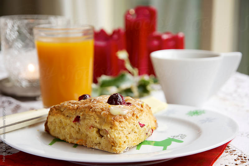 Cranberry Orange Scones by Harald Walker for Stocksy United