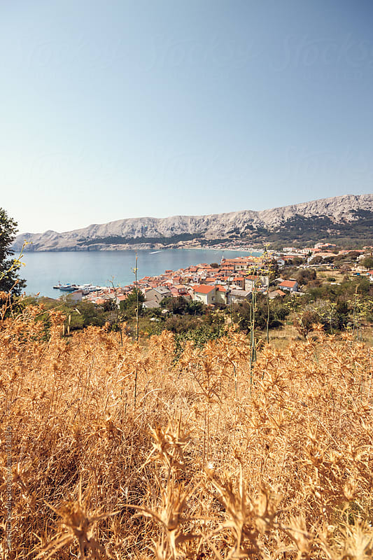 view of the oldtown of baska by Leander Nardin for Stocksy United