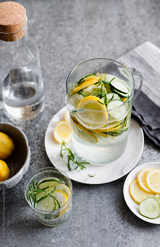Cucumber Lemon Water by Dobránska Renáta for Stocksy United