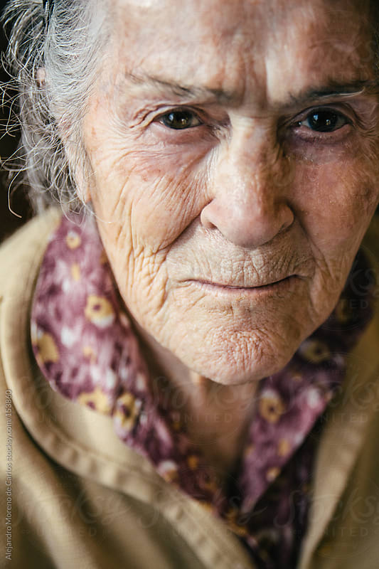 Old senior woman portrait by Alejandro Moreno de Carlos for Stocksy United
