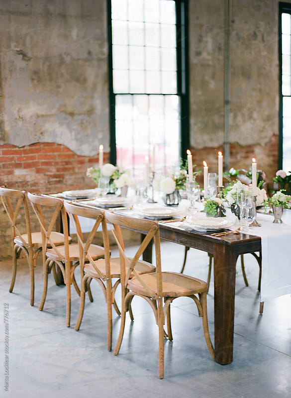 Elegant Loft Dinner Table by Marta Locklear for Stocksy United