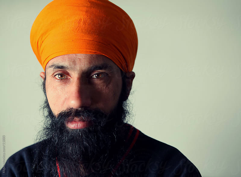 Portrait of a Sikh. by kkgas for Stocksy United