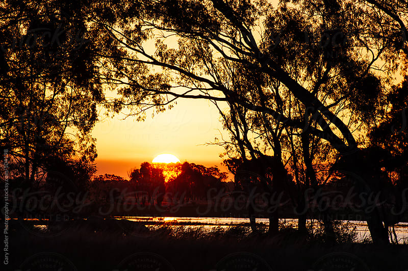 Australian Sunset showcasing Aboriginal Colours by Gary Radler Photography for Stocksy United